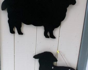 Sheep or lamb shaped Chalkboard blackboard message board a lovely handmade gift or farm shop sign