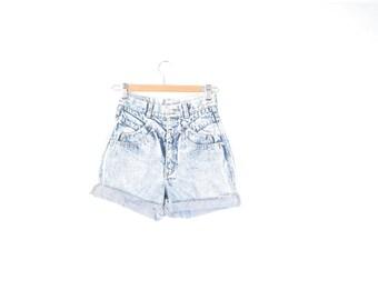 Vintage 80s 90s acid wash denim shorts