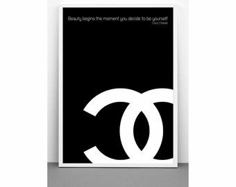 Coco Chanel quote poster print on paper or canvas up to A0 size