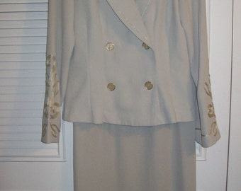 Vintage Fattaneh Bahari Dressy Elegant Champagne Maxi Suit Rodeo Drive/CEO Find! Size 10