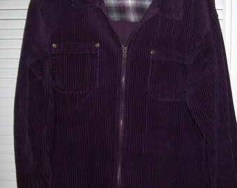 Jean Jacket Medium, Vintage Purple Corduroy Jean Jacket by Denim&Co. Size Med - large see details