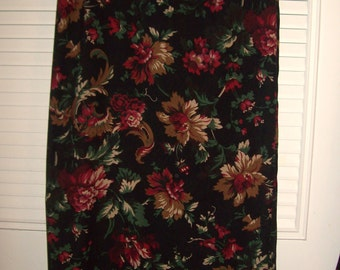Vintage Briggs of NY Maxi Skirt  Fall Flowers w Night Background- Stunning  Size 12