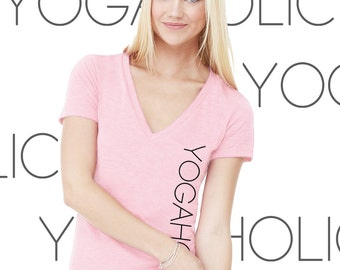 Yogaholic Women's MEDIUM Yoga V-neck