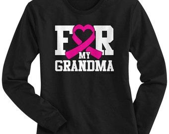 For My Grandma Breast Cancer Awareness Women's Long Sleeve T-shirt