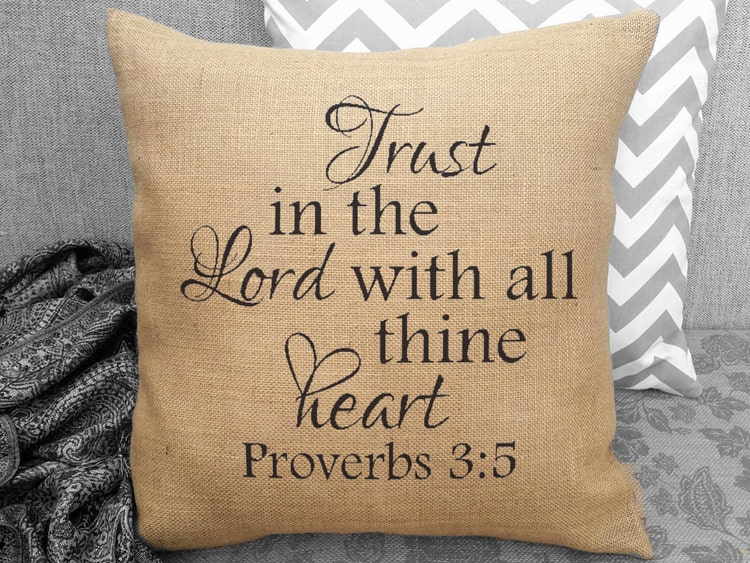Trust In The Lord With All Thine Heart By Sweetpickleshop