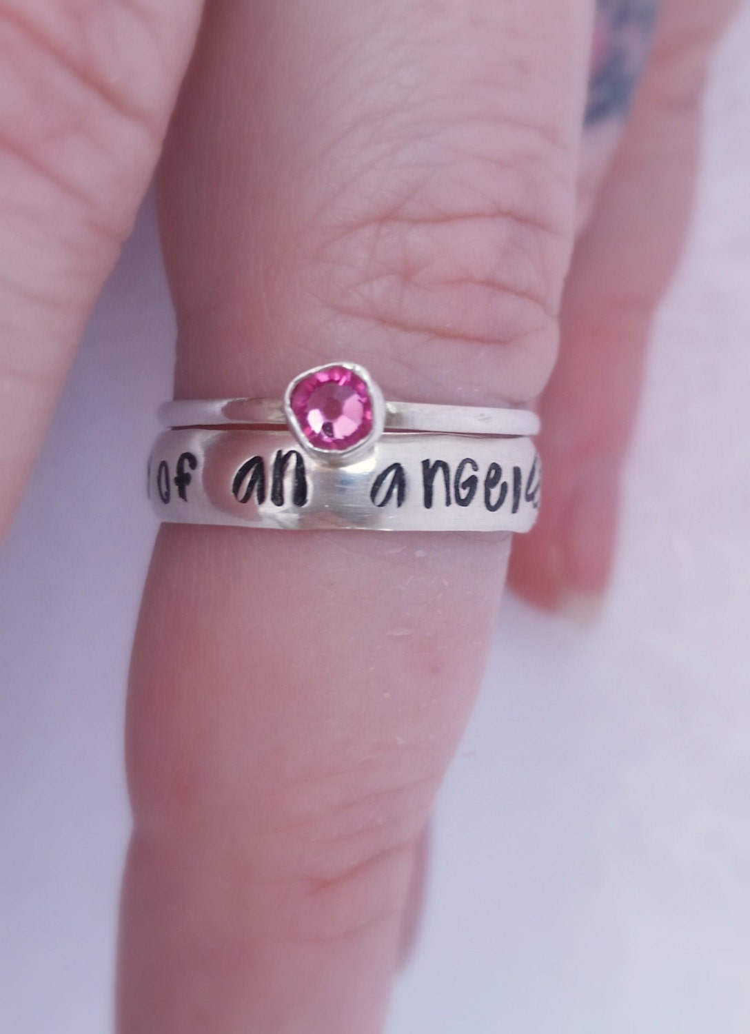 Miscarriage Ring Mommy Of An Angel Ring Baby Loss Infant