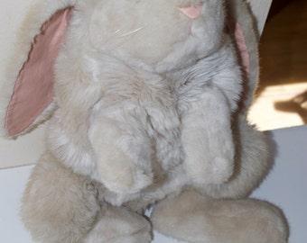 "Dakin Elegante Large Bunny Rabbit Hand Puppet 1985 18"""