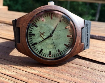 Wood Watch, Engraved Wooden Watch, Gift for him, Mens Wooden Watch, Wedding Gift, Anniversary Gift, Groomsmen Gift, Mens Wood Watch, 5 year