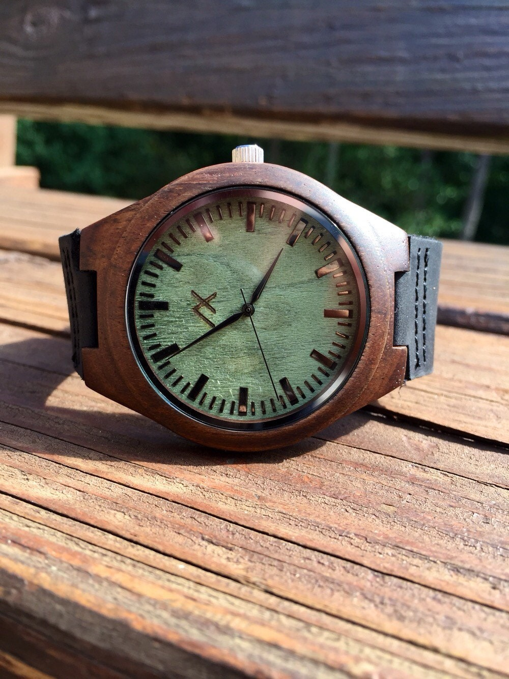 Wood watch engraved wooden watch gift for him mens wooden for Watches engraved