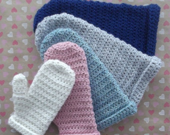 CROCHET pattern! Mighty Mittens, mittens, gloves, basic, 5 sizes, toddler, child to medium, easy. Permission to sell finished item!