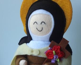Saint Therese of Lisieux  Felt Saint Doll Catholic Religious Doll