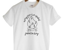 Every Fire I've Ignited Faded To Grey Unisex Style Loose Fit Boxy Tee