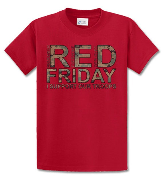 Marine corps red friday i support our troops mccuu marpat for Red support our troops shirts