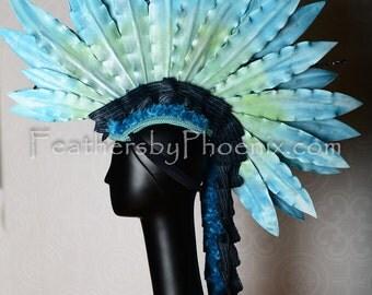 Faux Feather Mohawk Hat Headdress