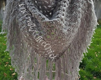Silver Sparkle Triangle Scarf