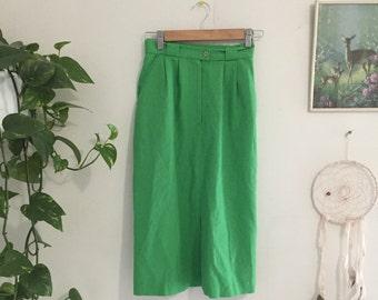 Vintage lime green skirt