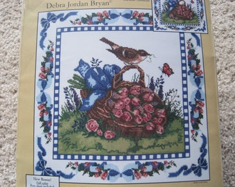 "Cross Stitch Kit - Spring Robin Pillow/Picture - Candamar Designs #51569 - 14"" x 14"" - NEW NIP"
