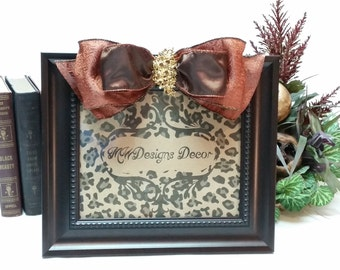 8x10inch Decorative Bronze Frame with Bow and Brooch