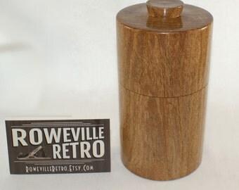 """Reclaimed Mesquite Lidded Box / Salt Cellar -  6"""" x 3"""""""