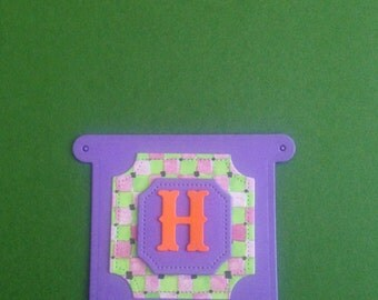 Mini Layered Banner with Alphabet Letters