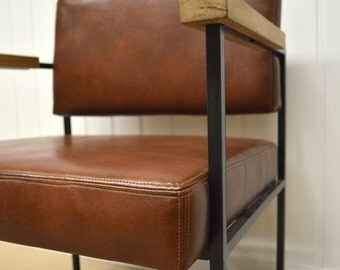Recycled leather chair