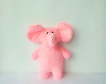 Pink plush Elephant, stuffed animal toy, plush elephant, soft elephant, baby plush toy