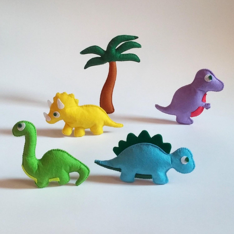 Dinosaur christmas ornaments - Felt Dinosaur Jurassic Park Toy Baby Ornament Dinosaur Magnets Dinosaur Ornament Stuffed Plush Dinosaur Soft Dinosaur