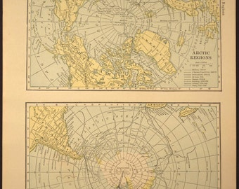 North Pole Map South Pole Map Arctic Antarctic Expedition