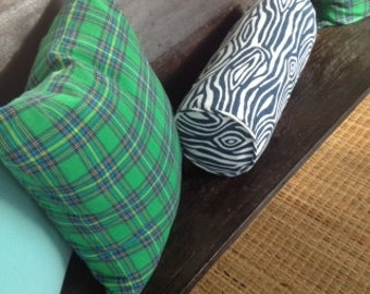 Custom Bolster Pillow Cover with Piping and Zipper - choose your own fabric and size