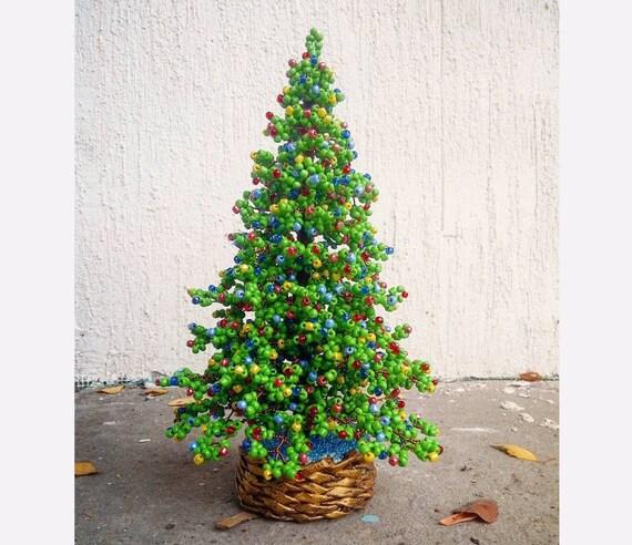 Beaded Christmas tree - New Year gift - Christmas gift - seed bead tree - artificial Christmas tree - decorated pine tree