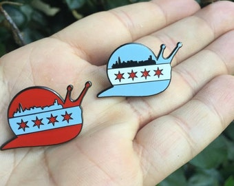 Snails Chicago Slugs Pin Red *LIMITED EDITION*