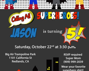 Superhero Invitation-African American