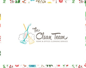 Cleaning Premade Logo Design - Web and Print Files Included - Limited Edition! Perfect For Cleaning Service, Housekeeper, Maid + more!