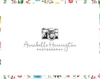 Camera Premade Logo Design - Web and Print - Limited Edition! Perfect For Photographer, Blogger, Travel Blog, Camera Shop + more!