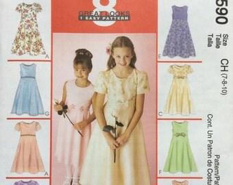 McCall's 2590 UNCUT Easy Girls Dresses