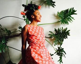Vintage floral fashion