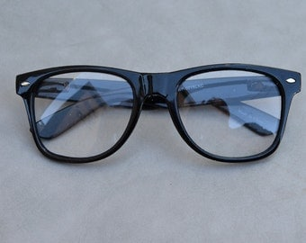 Faux Eyeglasses Black