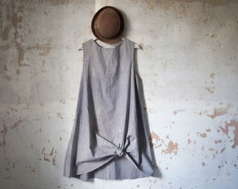 Organic Ethical Cotton Tunic Dress rustic dye alternative evening wear Sustainable Fashion // available with no dye