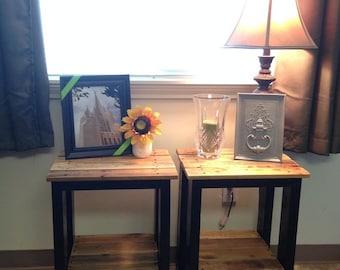 Custom Reclaim End Table/Nightstand