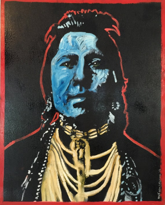 Native American Indian Inspired Pop Art Painting by Matt