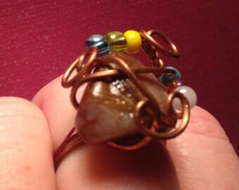 Agate Beach Stone Ring