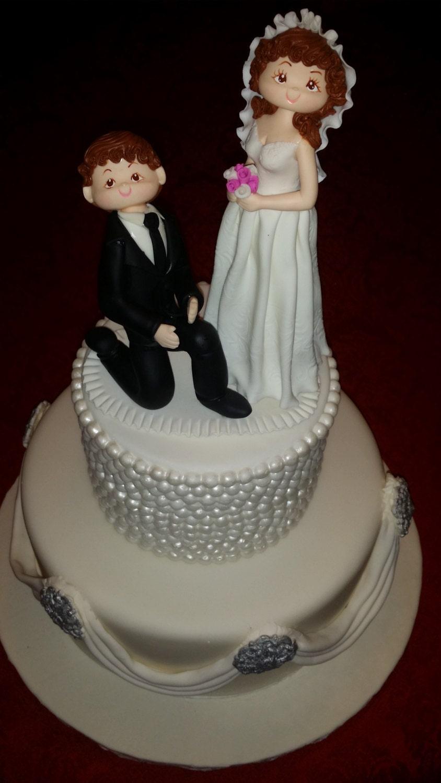 Mr And Mrs Cake Topper Wedding Cake Topper Funny Wedding