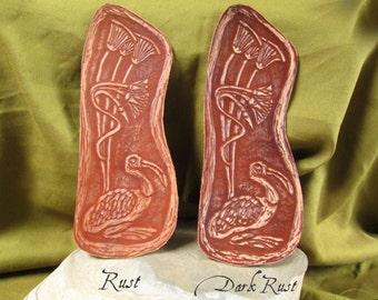 Leather Thoth Bookmark: Egyptian God Thoth, Papyrus, Ibis, Egyptian Mythology, Ancient Egypt, Egyptian Deity, Kemet, Leather Bookmark