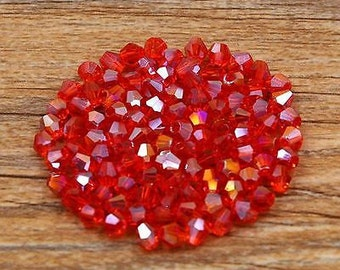 4mm cut crystal bicones  ****CHOICE of Color*****100 piece