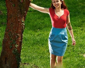 Auer - playful polka-dot shirt red white