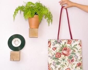 tote bag English flowers - cherry