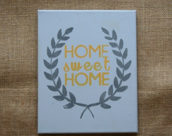 ON SALE: Home Sweet Home Canvas // CLEARANCE