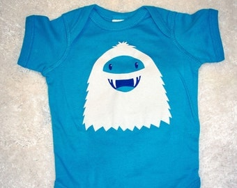 Abominable Snowman Body Suit | Yeti Baby Romper