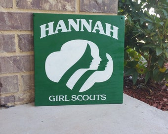 Personalized Girl Scout - Hand Painted - Wooden Sign