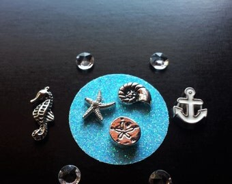 Set of Ocean Floating Charms for Floating Lockets-Gift Idea